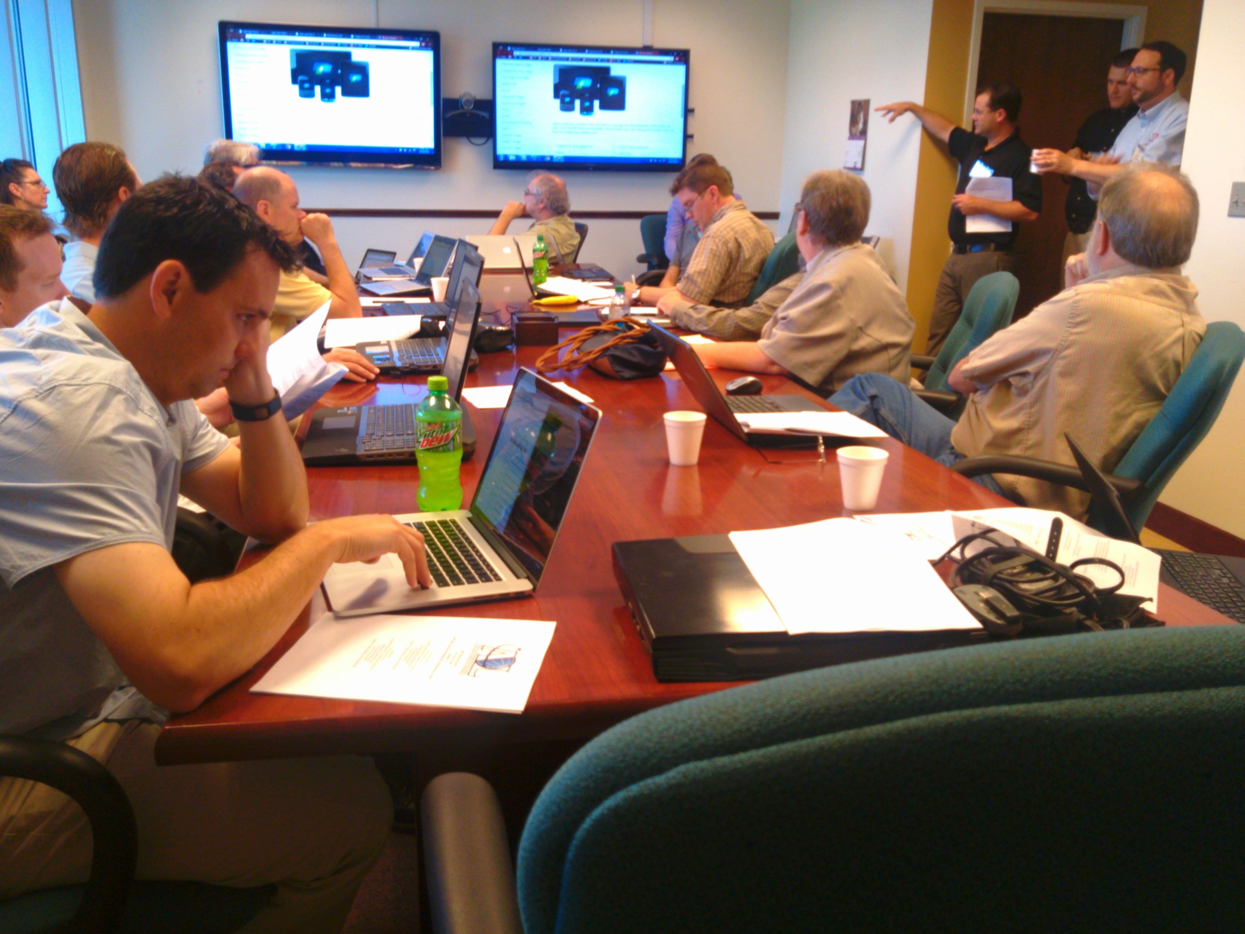 Concentrating on an xAPI Bootcamp Web Content Development session