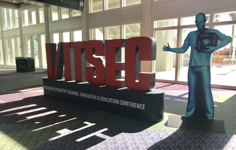 IITSEC display at convention center
