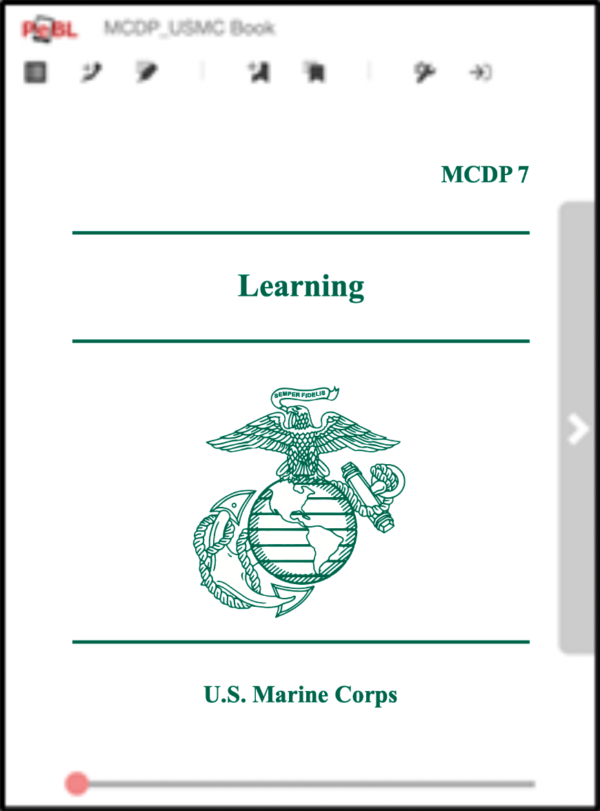 Cover page of the MCDP Learning publication
